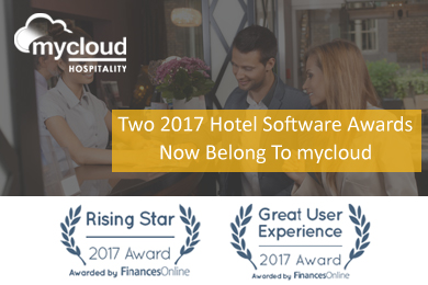 mycloud PMS wins two prestigious hotel management software by FinancesOnline
