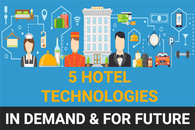 [Infographic] 5 Hotel Technologies in Demand & for Future
