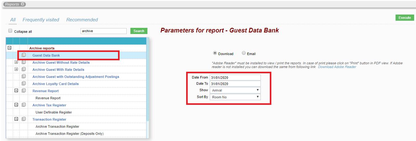 Guest Data