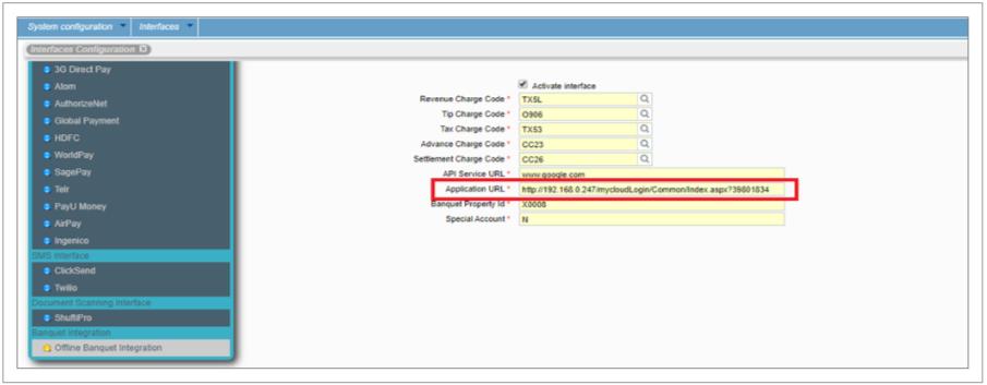 Admin Interface configuration screen
